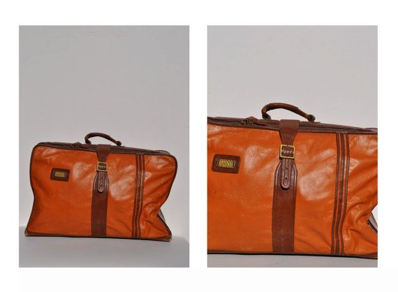 vintage leather suitcase luggage leather bag weekend by andyhaul ...