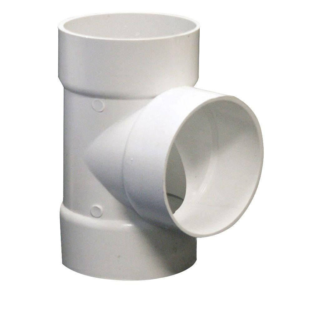 Nds 4 In Pvc Sewer And Drain Hub X Hub X Hub Tee 4p01 The Home Depot Pvc Fittings Pvc Trench Drain Systems