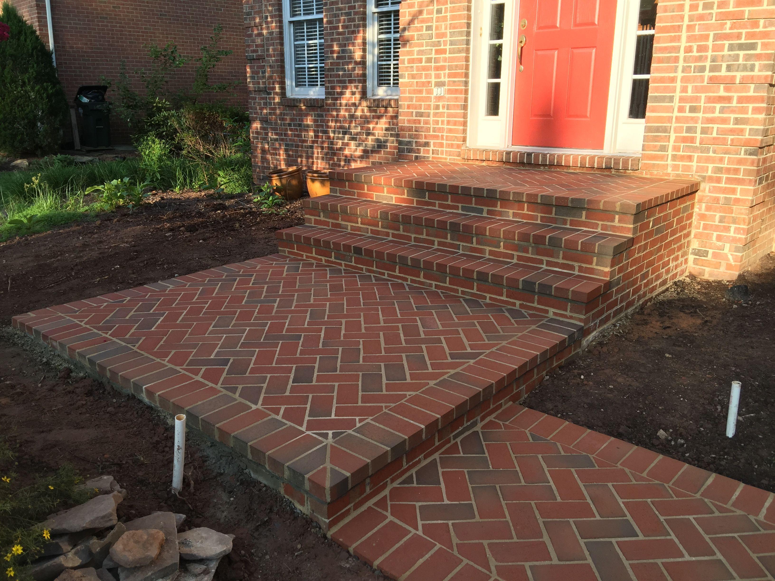Brick Stoop Steps And Walkway In Gainesville Virginia Brick Patios Patios Walkway