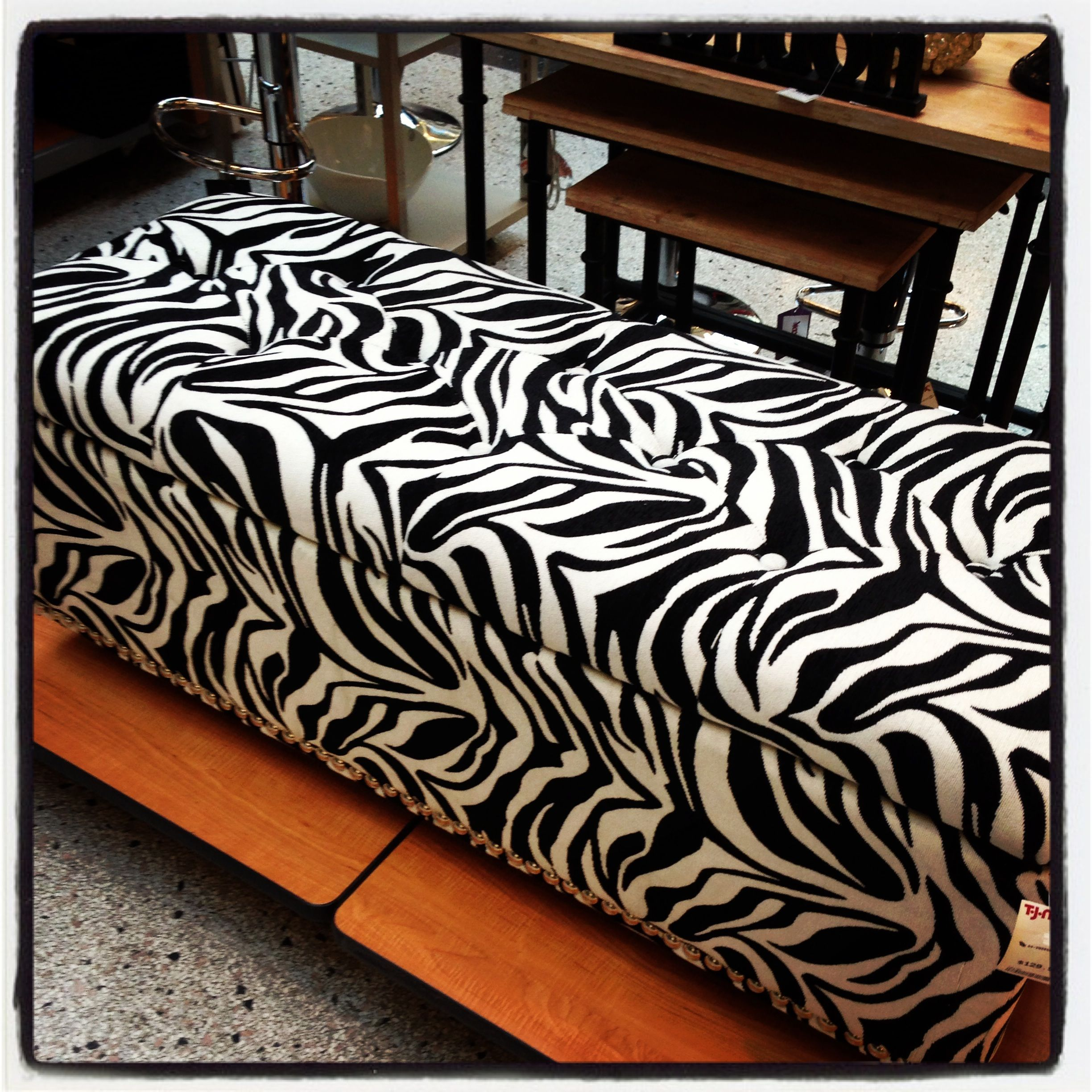 Zebra Max Storage Bench For The Foot Of Your Beef Home Decor Zebra Storage Bench