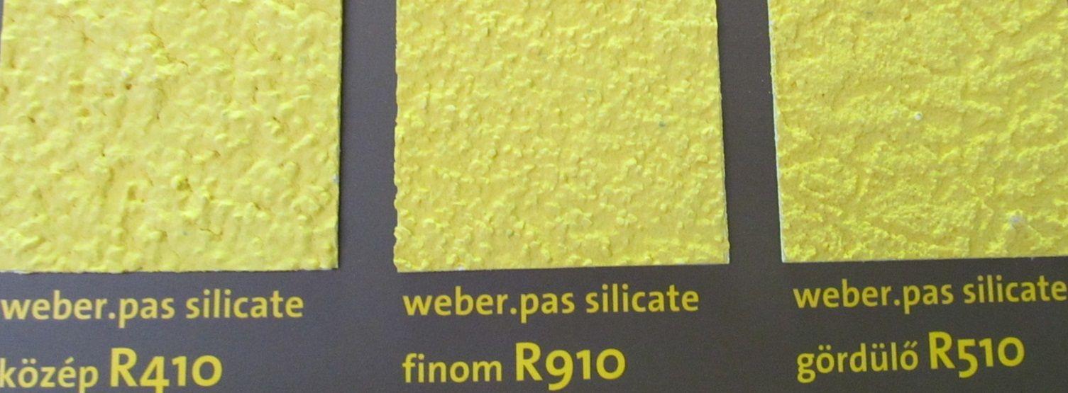 weber.pas silicate vékonyvakolatai