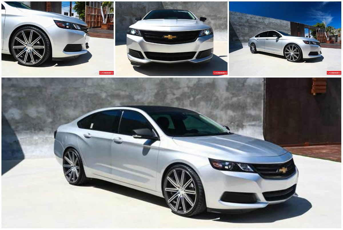 Chevrolet impala on vossen wheels watch and learn