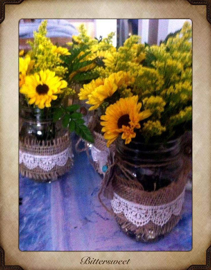 mason jar flower arrangements pinterest