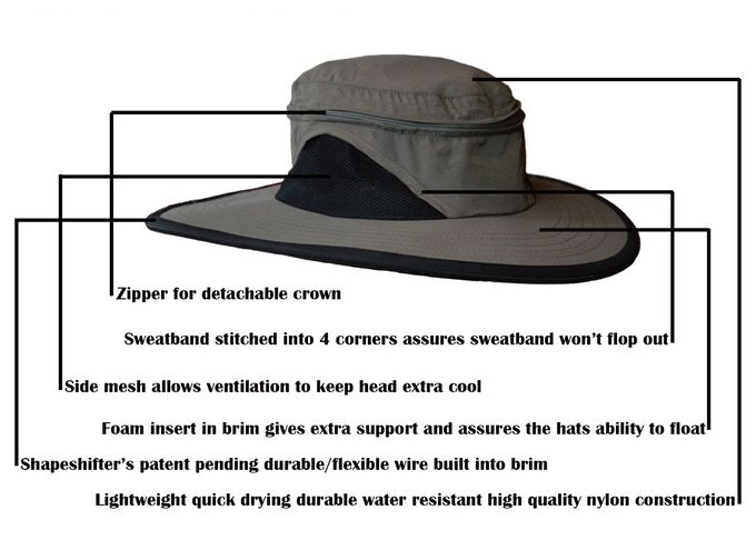 Shapeshifter: The world\'s first shape-able stiff brim sunhat by C ...