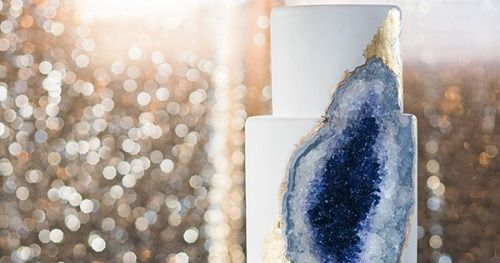 In recent years weve seen geode styled cakes boom;... #wedding #weddings