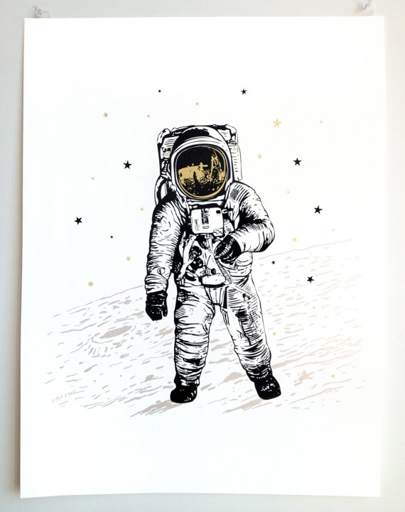 Hey, I found this really awesome Etsy listing at https://www.etsy.com/listing/203557323/astronaut-man-on-the-moon-art-poster-on