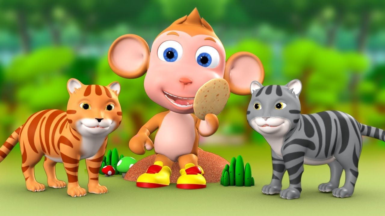 Monkey & Two Cats 3D Animated Hindi Moral Stories for Kids