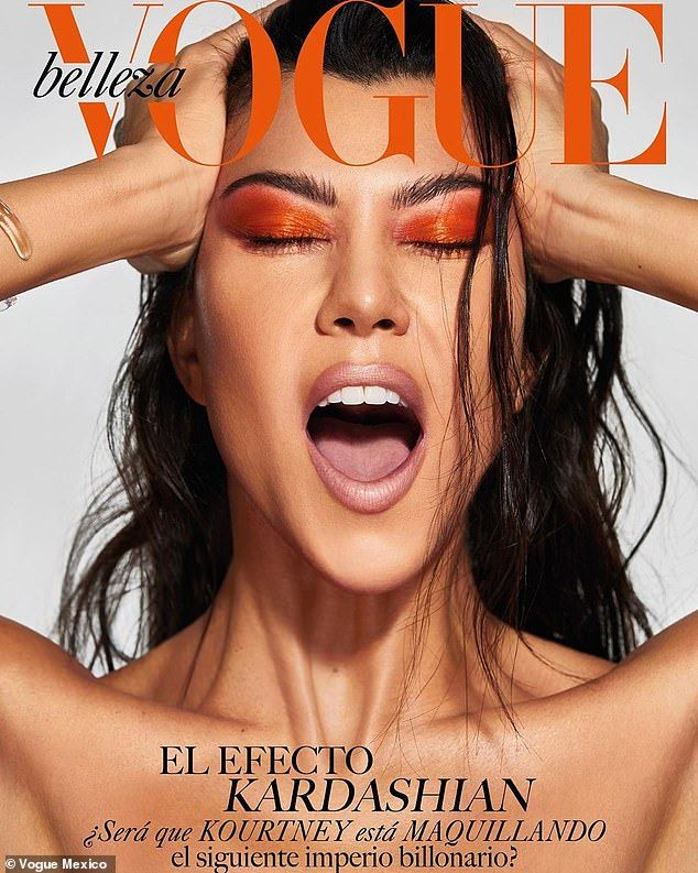 Kourtney Kardashian displays her flawless complexion in Vogue Mexico