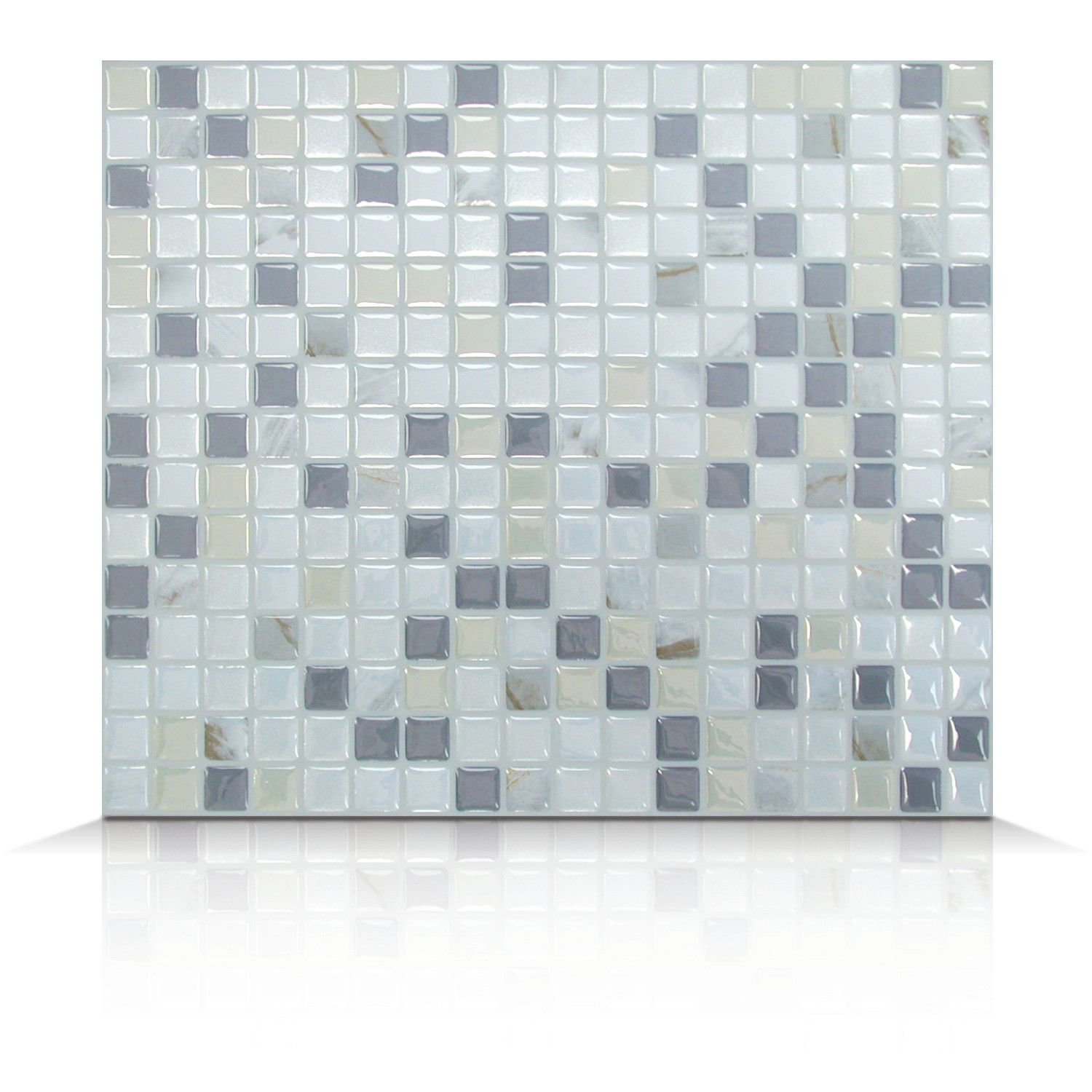 - Smart Tiles Mosaik Self Adhesive High-Gloss Mosaic In Pearl & Gray &  Reviews Wayfair Supply Smart Tiles, Self Adhesive Wall Tiles, Tiles