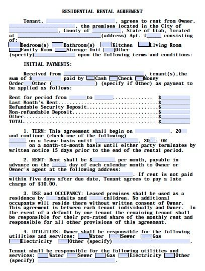 Printable Sample Al Lease Agreement Templates Free Form