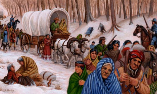"""Trail of Tears"" The Cherokee people where forced to"