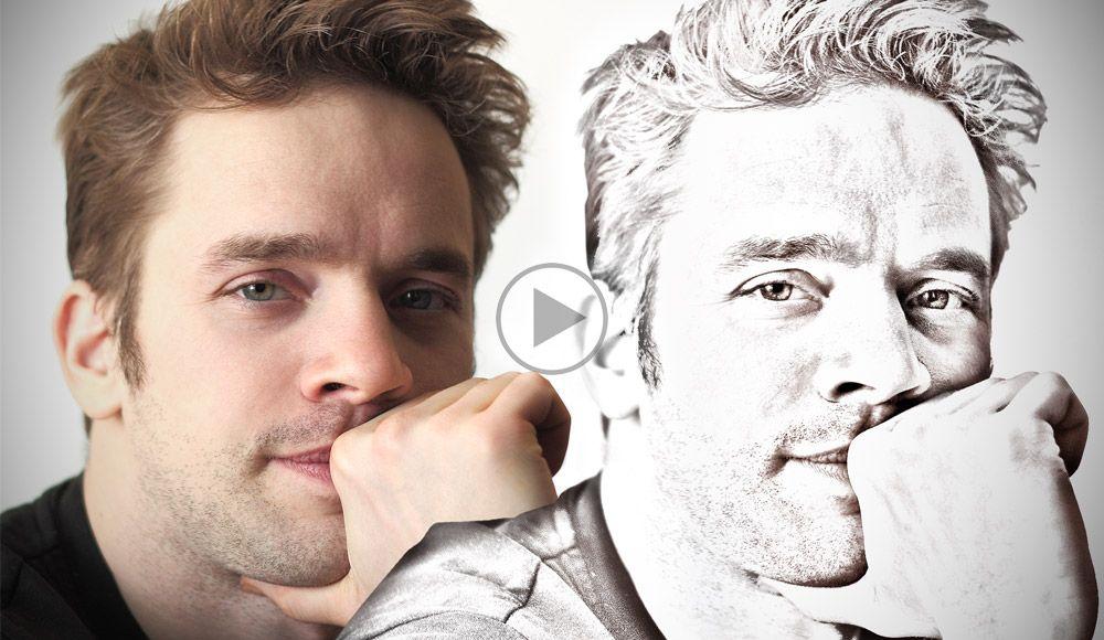 Transformer une photo en dessin - Tuto Photoshop gratuit en Français