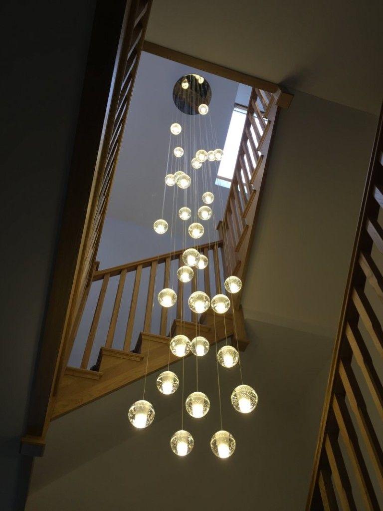 Modern Art Glass Droplet Design Ceiling Hanging Chandeliers