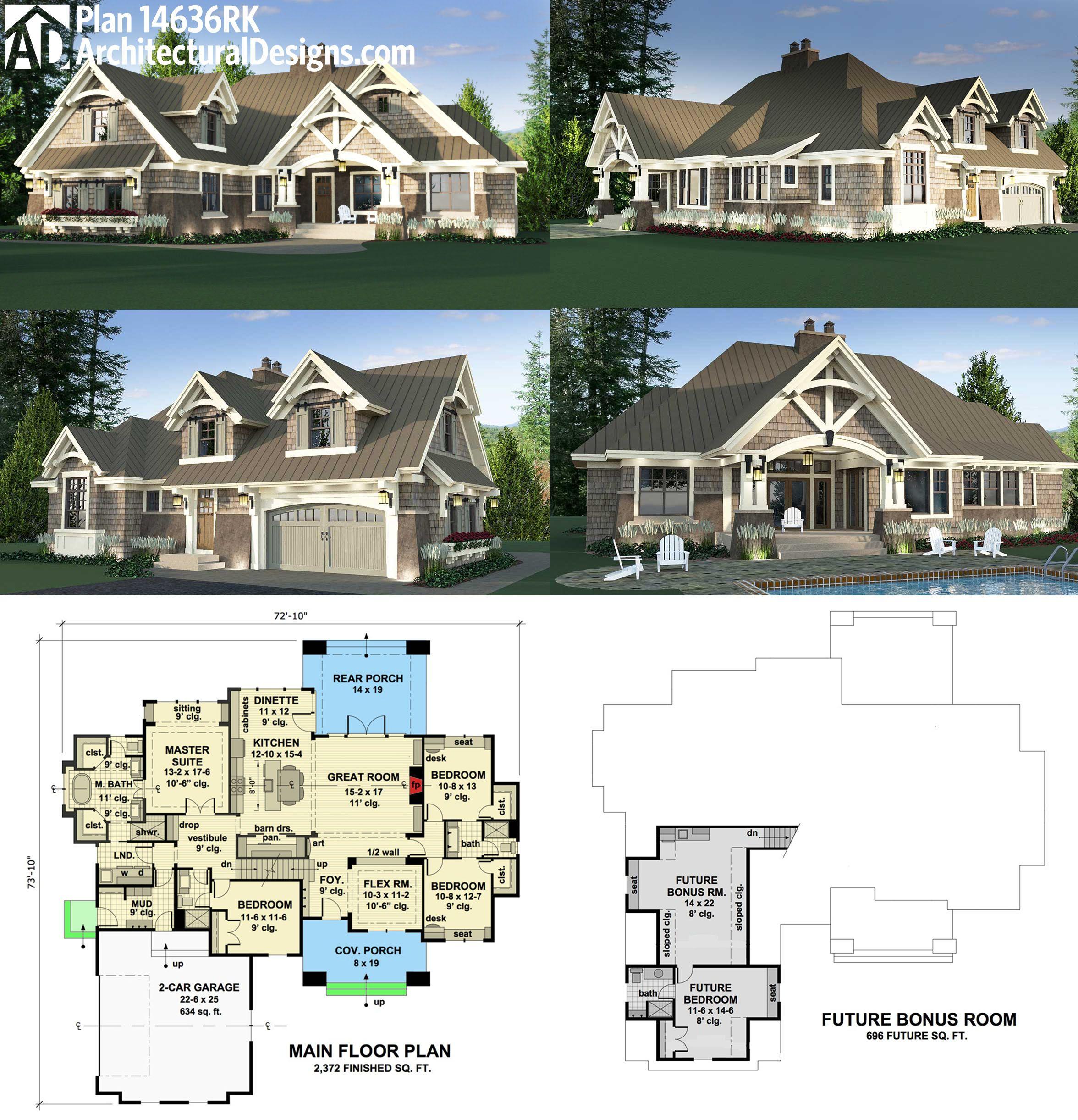 Plan 14636RK Charming Details Architectural design house plans