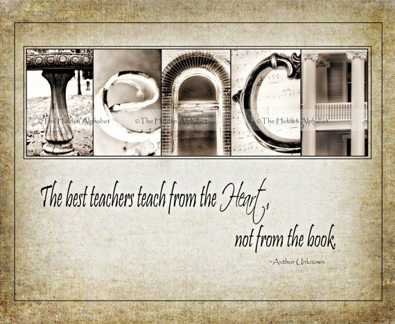 TEACHERs GiFT  Alphabet Photo  Fine Art Print  with quote for TEACHING PRESENT on Etsy, $22.95