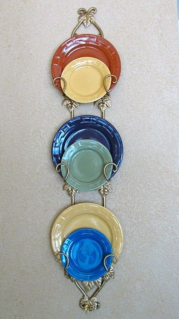 colorful plates on plate rack & colorful plates on plate rack | Dishes on Display | Pinterest ...