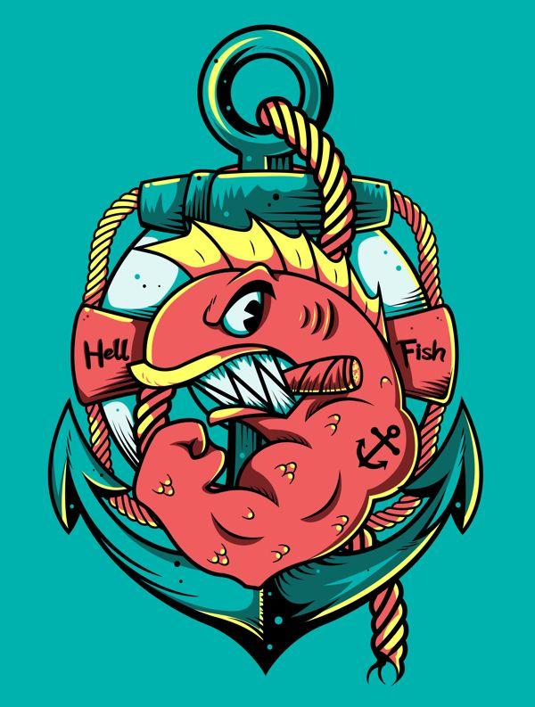 Los Peces Del Infierno Ilustración Pinterest Ilustraciones
