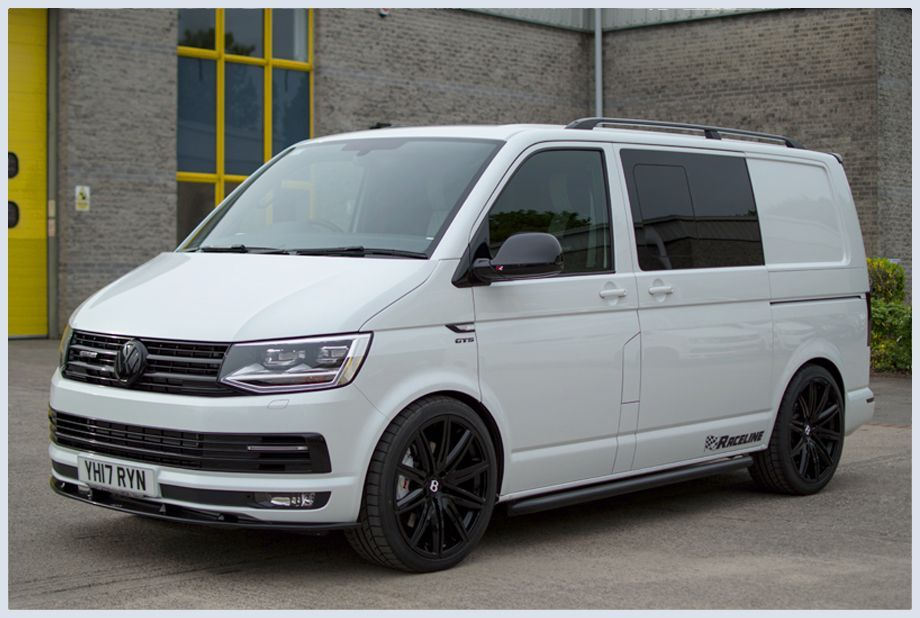 Vw T6 Transporter Oryx White Raceline Gts Black Series Highline Kombi Volkswagentransporter Volkswagen Transporter Volkswagen Vw Van