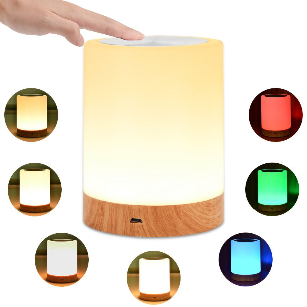 Kmashi Led Bedside Table Lamps Touch Lamp Night Light Rechargeable Warm White Light Rgb Color Bedrooms Livin Touch Lamps Bedside Bedside Table Lamps Touch Lamp