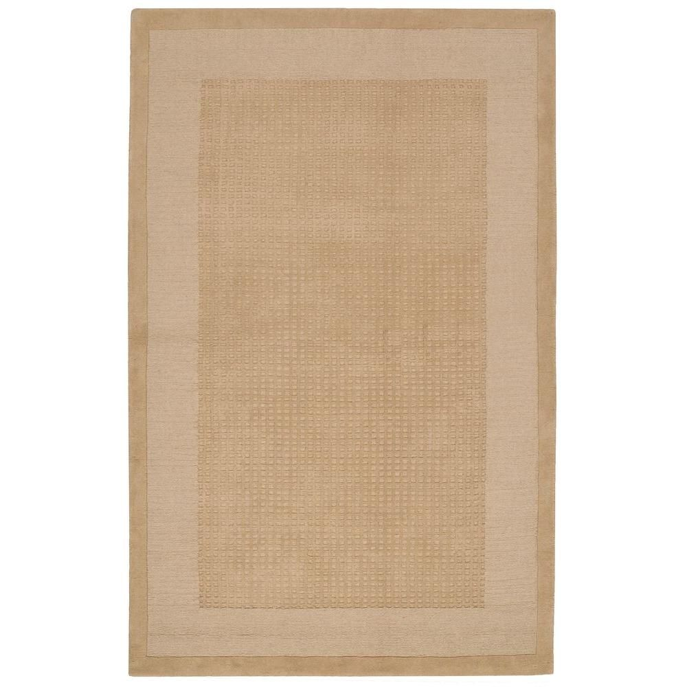 Nourison Simply Elegant Sand 5 Ft X 8 Ft Solid Contemporary Area Rug 723482 The Home Depot Rug Decor Area Rugs Nourison