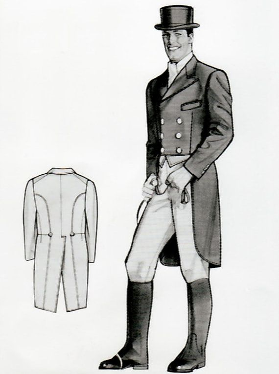 JY1025 - Men\'s Shadbelly Tailcoat Sewing Pattern by Jean Hardy ...