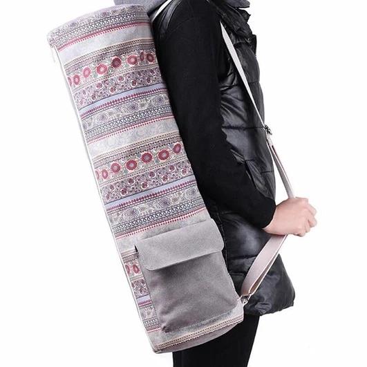 Bohemian Boho Style Sports Fitness Canvas Yoga Mat Shoulder Bag -  Bohemian Boho Style Sports Fitnes...