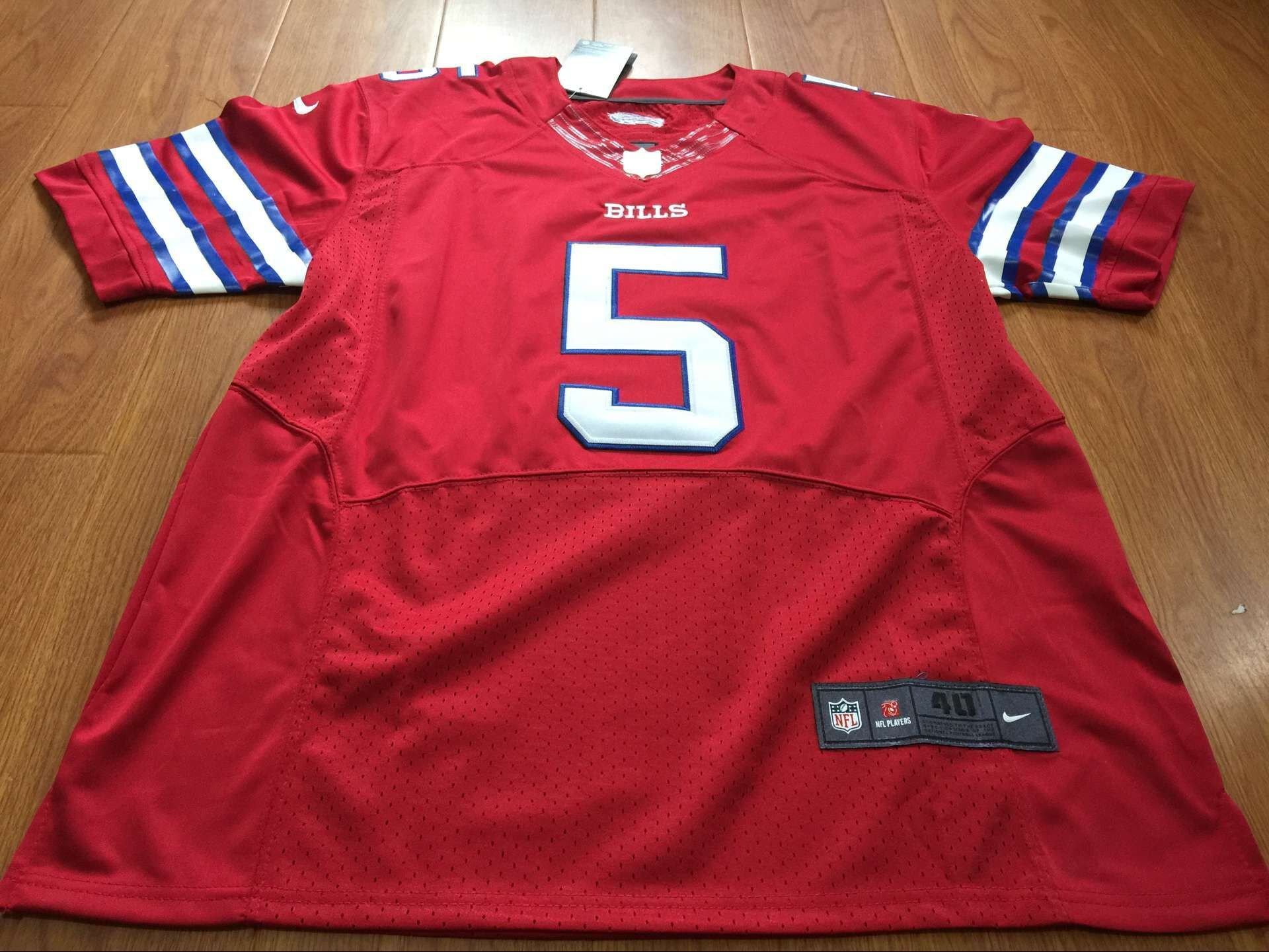 nfl buffalo bills 5 tyrod taylor nike red color rush men elite jersey email me