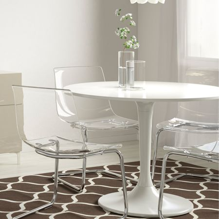 Tobias Docksta Table And Chairs Clear Dining Chairs Shabby