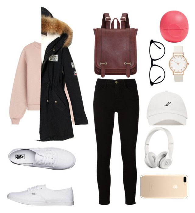 """Idol"" by sweeterthanpies on Polyvore featuring Eos, Vans, Off-White, Frame and Beats by Dr. Dre"