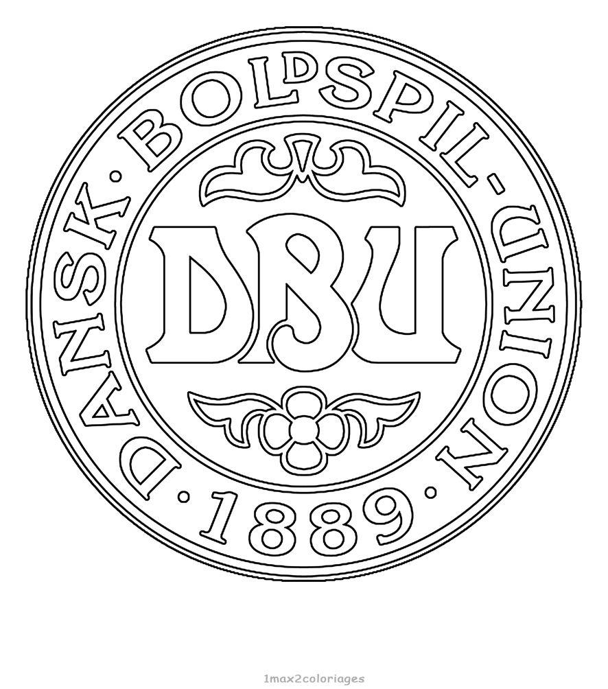 Logo Football Danemark Team Logo Football Coloriage Coupe Du Monde