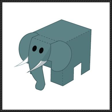 Animal paper model elephant cube craft free download animal paper model elephant cube craft free download papercraftsquare maxwellsz