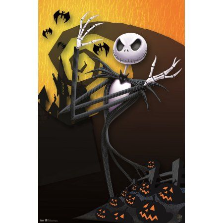 trends international the nightmare before christmas pumpkins wall poster 22375 inch x 34 inch christmas pumpkins walmart and products
