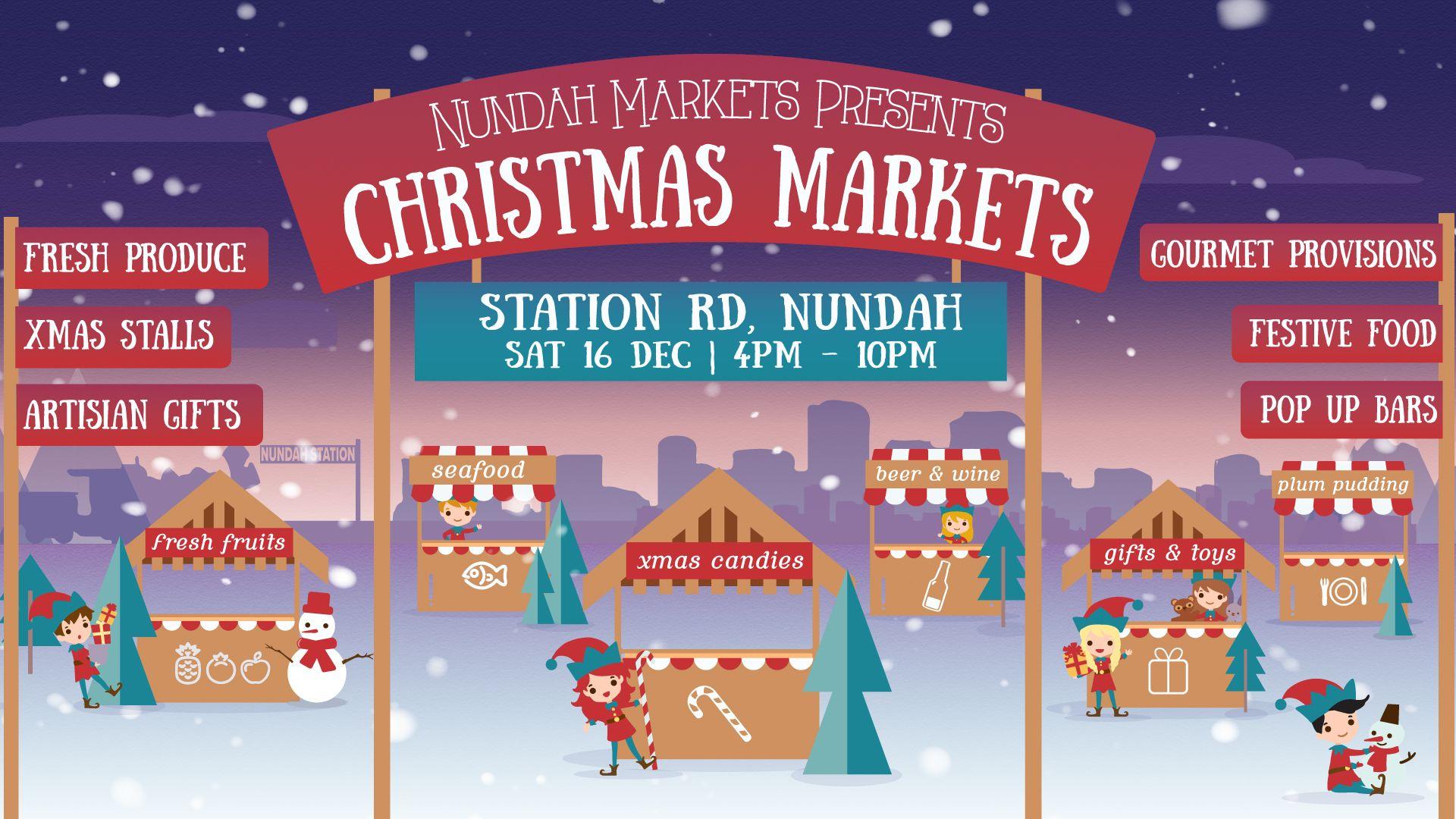 Nundah Markets Christmas Markets Banner (Christmas 2017)