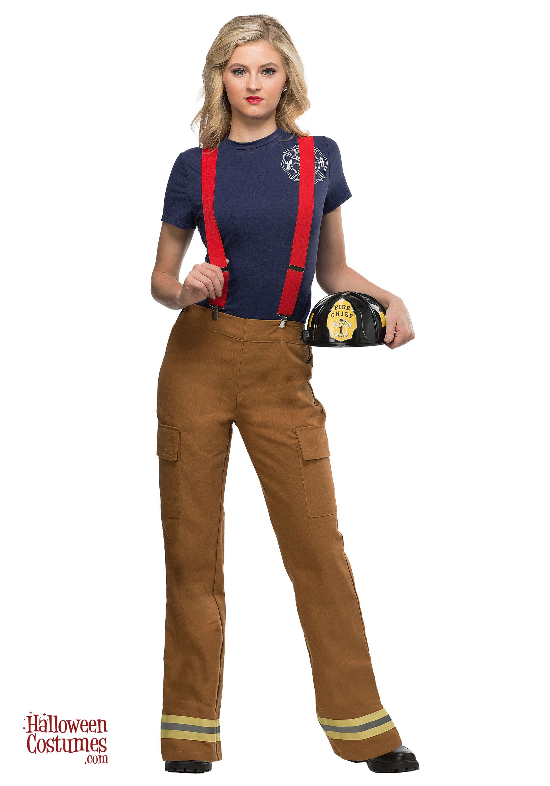 Fire Captain Women's Costume Firefighter halloween