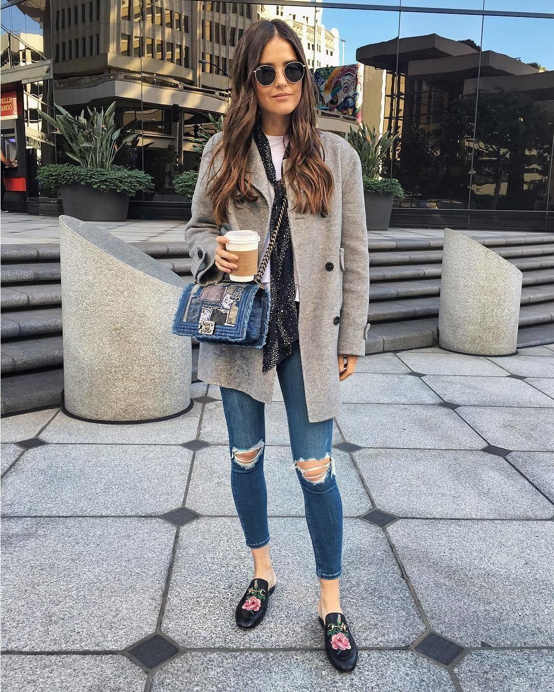 77cc21f420c Photo @blankitinerary #womanslook • обувь Princetown leather slipper от # gucci • сумка Boy shoulder bag от #chanel.