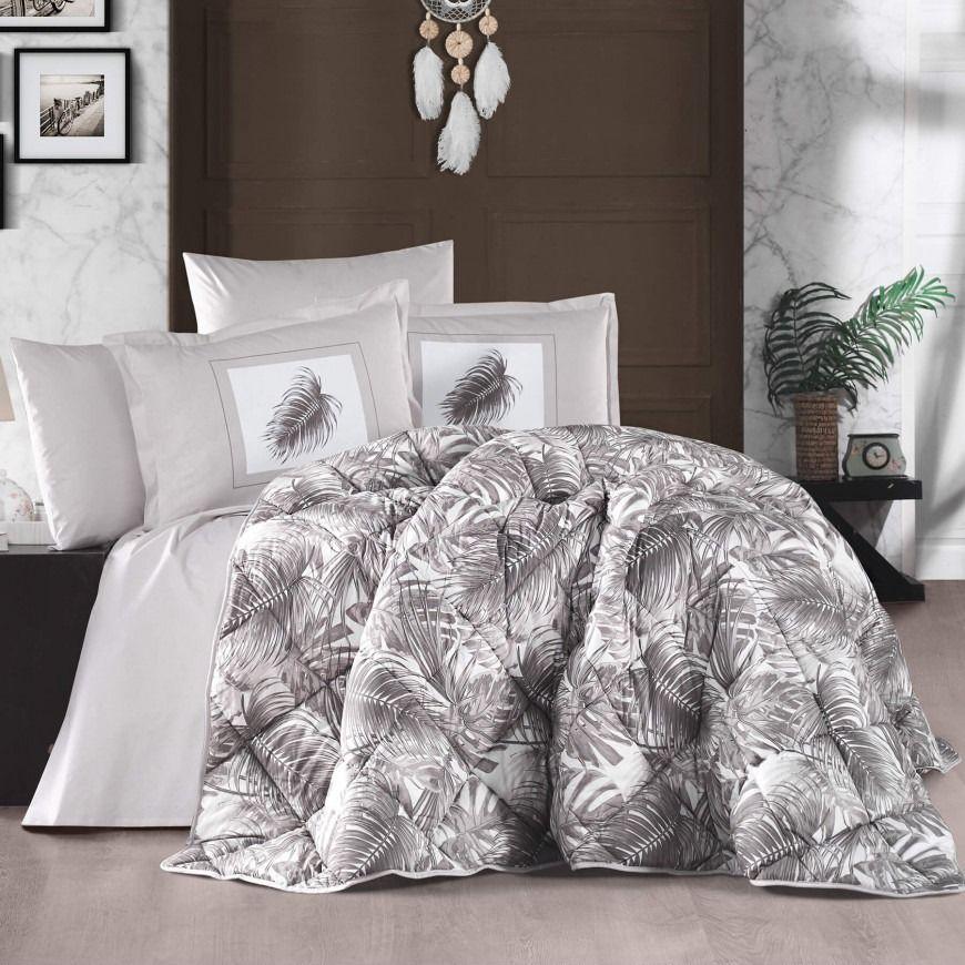 مفرش بوما صيفي مزدوج بني عدد القطع 8 Comforter Sets Cotton Comforter Set Double Queen Bed