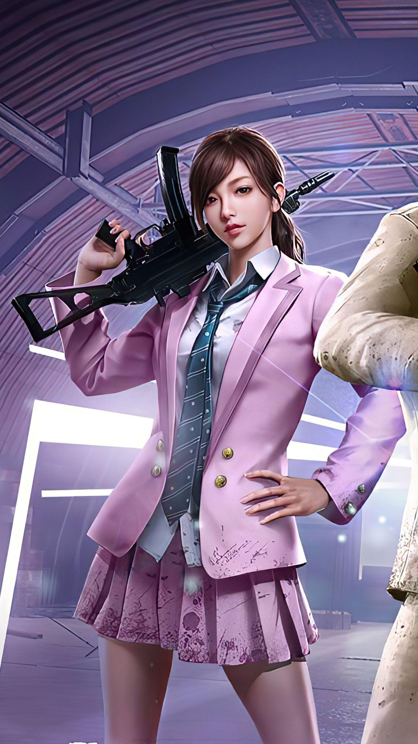 PUBG Girl Agent 4K Ultra HD Mobile Wallpaper in 2020