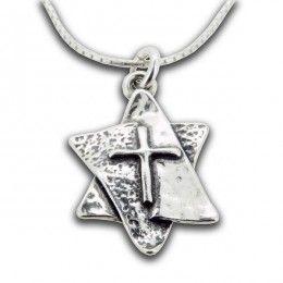 The latin cross star of david necklace my jewish side ebreo the latin cross star of david necklace aloadofball Gallery