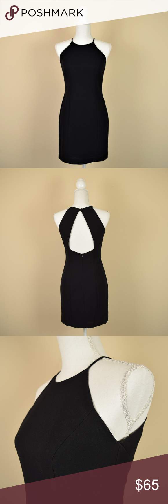 8f76eb67529d4 Laundry Shelli Segal Black Backless Halter Dress Sleek, minimalistic, and  chic, this Laundry