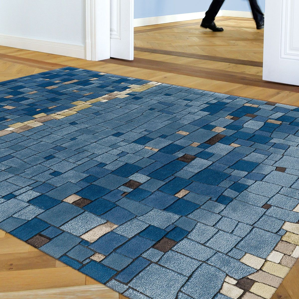 Tapis Haut De Gamme Bleu Multicolore Par Arte Espina Rugs Decor