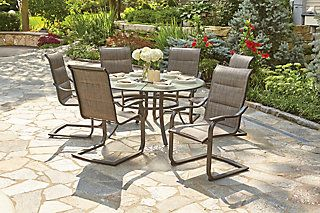 The Hampton Bay St Lucia Collection 7 Piece Dining Set Is The