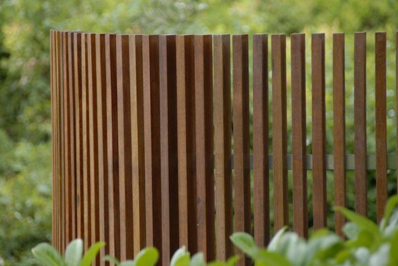 Claustra Bois Arrondi Wall Barriere Bois Jardin