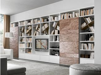 Sectional lacquered TV wall system Pari&Dispari - COMP 335 ...