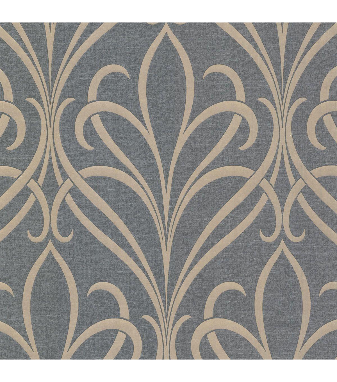 Lalique Silver Nouveau Damask Wallpaper Damask wallpaper