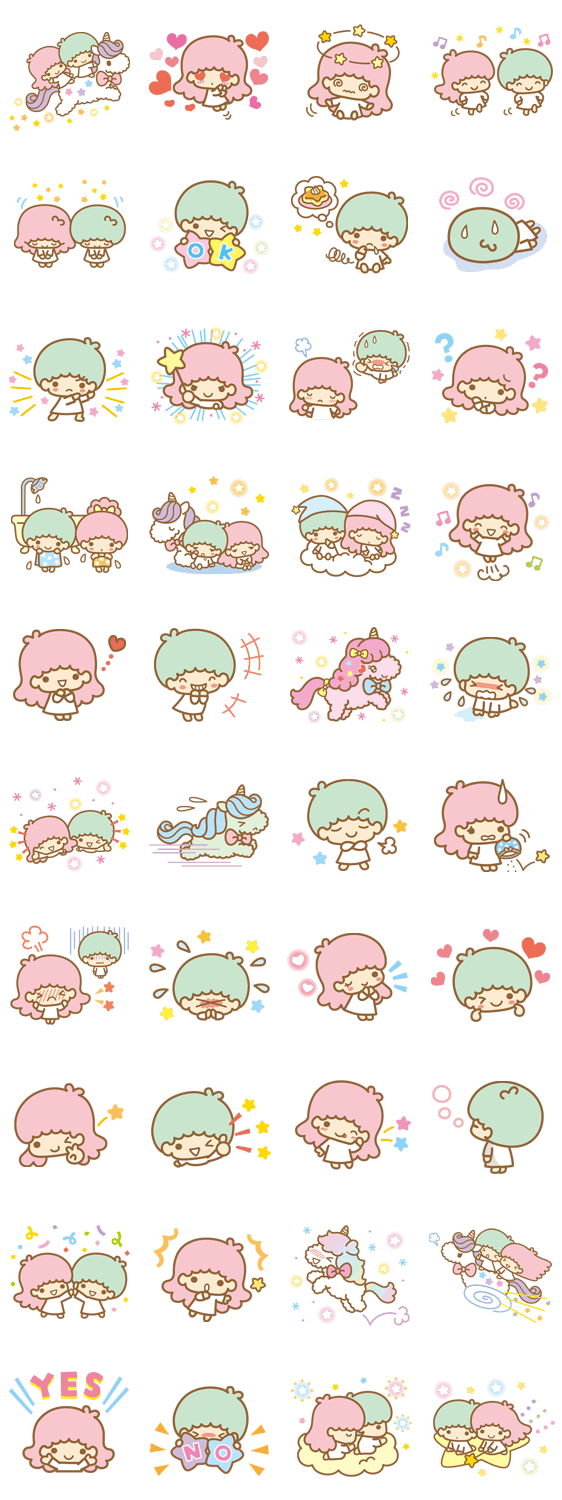 2013 Line Stickers Little Twin Stars