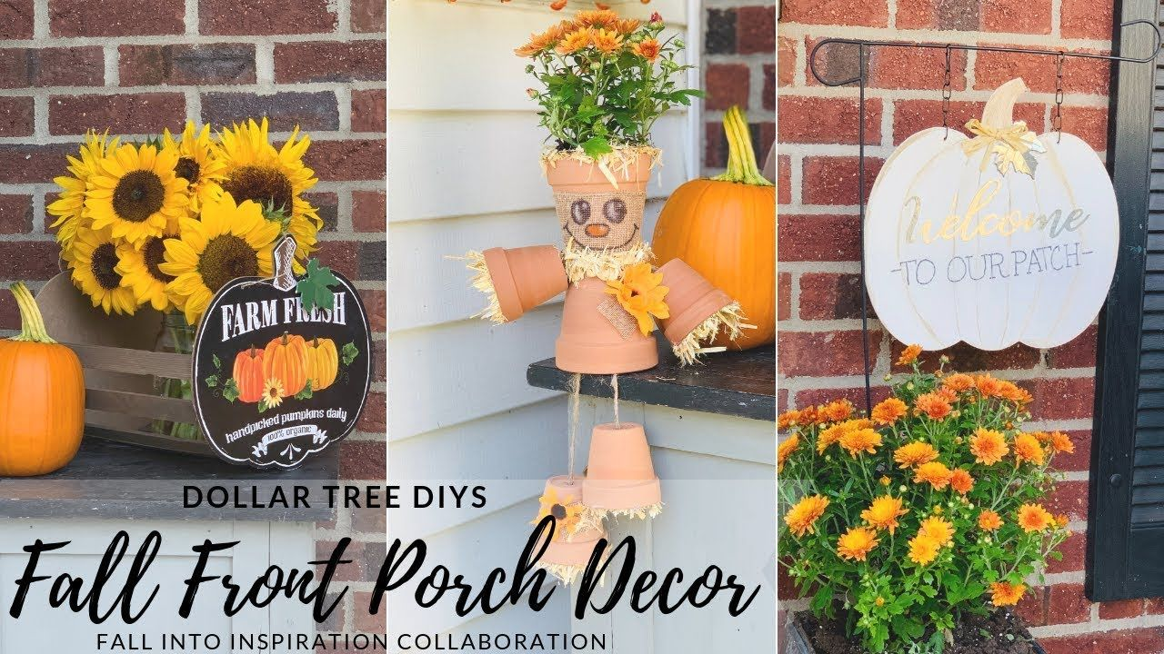 Dollar Tree DIY Fall Front Porch DecorPumpkin and Scarecrow Decor