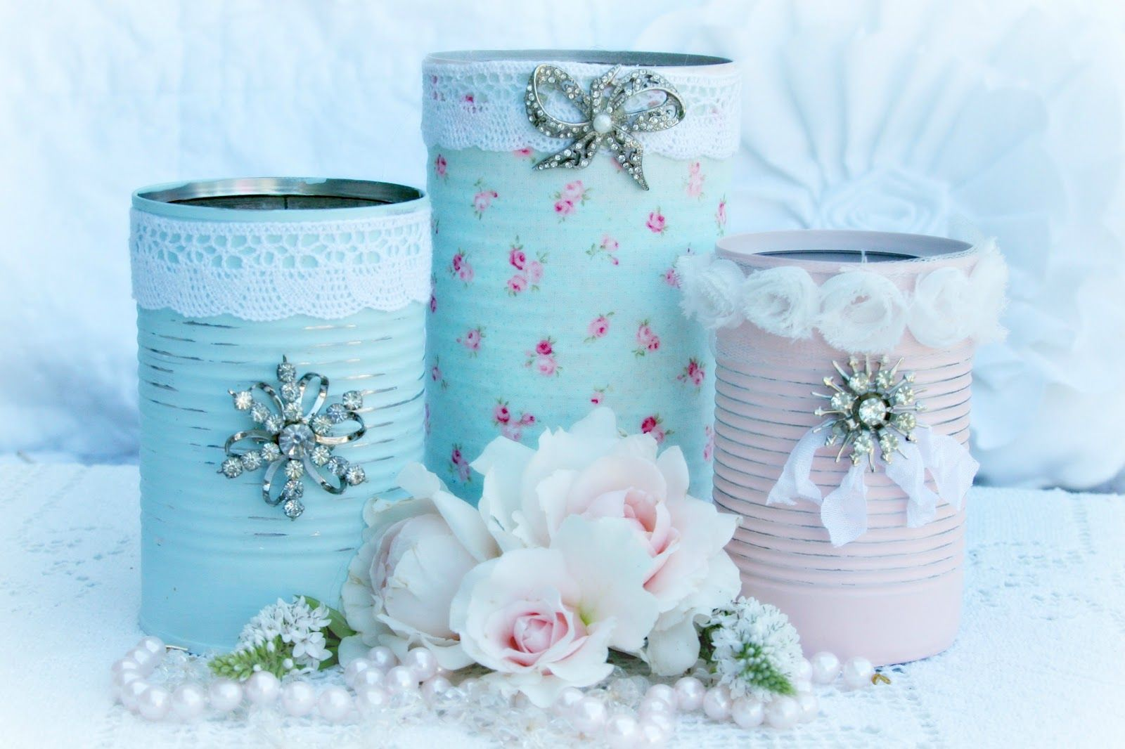 For the love of white: Pretty Can Project | TRASH TO TREASURE CRAFTS ...
