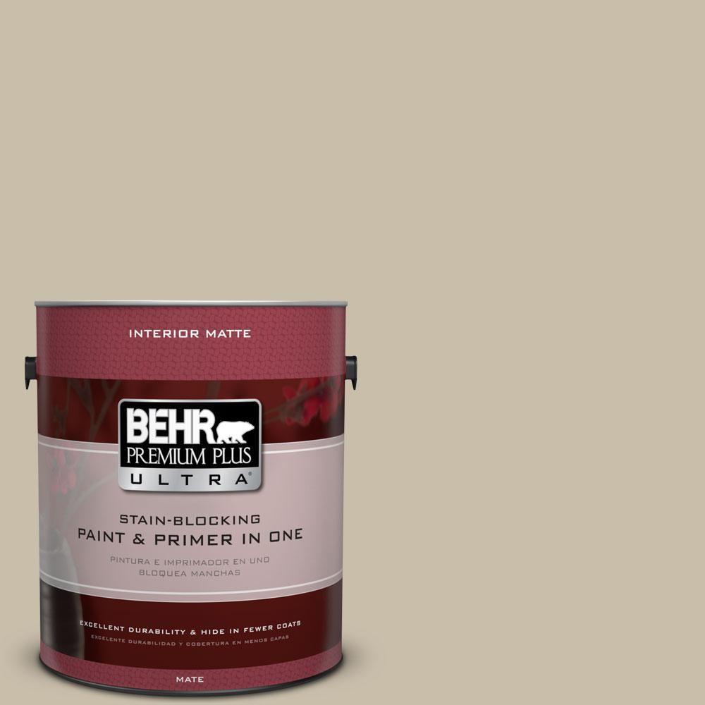 BEHR Premium Plus Ultra 1 gal. #pwl-91 Pale Bamboo Flat/Matte Interior Paint