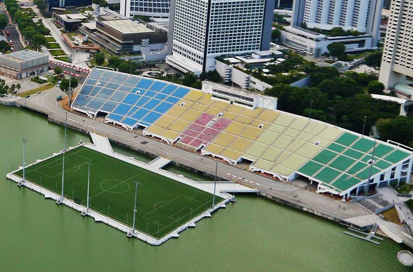 The Float At Marina Bay In 2020 Marina Bay National Stadium Floating