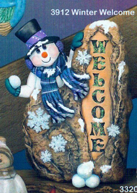 Ceramic Bisque Welcome Snowman Cpi Mold 3912 U Paint Ready To Paint Cpi Upaint Ceramic Bisque Ceramics Snowman